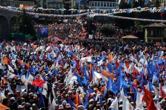 Başbakan Erdoğan'ın Rize mitinginden fotoğraflar