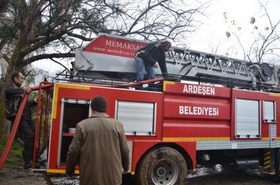 Ardeşen'de Korkutan Yangın: 2 Yaralı!