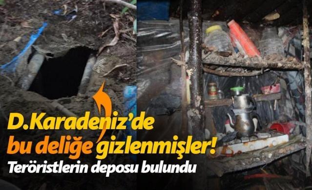 Gümüşhane'nin Kürtün ilçesi kırsalında güvenlik güçleri tarafından yürütülen operasyonlarda, PKK'lı teröristlere ait, topağa gömülü sığınak bulundu. İçinde yaşam malzameleri bulunan sığınağın teröristler tarafından depo olarak kullanıldığı belirlendi.