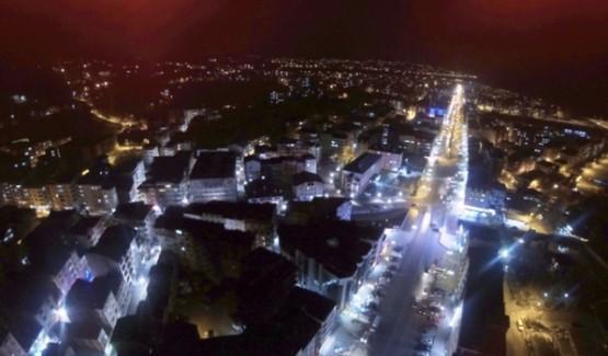 Ardeşen Gece Havadan Çakilmiş Fotoğraflar