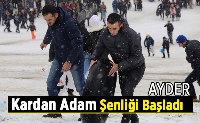 Ayder Kardan Adam Şenliği Başladı