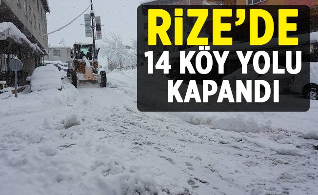 Kar Yağışı Rize'de Ulaşımı Etkiledi.