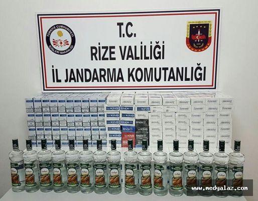 Fındıklı'da Kaçak Sigara Ve İçki Ele Geçirildi