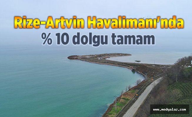 Rize-Artvin Havalimanı'nda yüzde 10 dolgu tamam