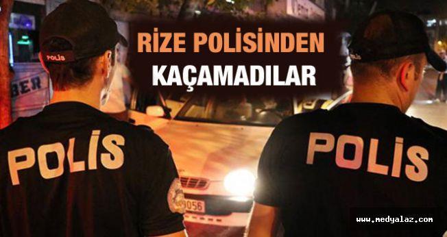 Rize'de Aranan 4 Şahıs Yakalandı