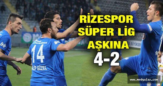 Rizespor Süper Lig Aşkına 4-2