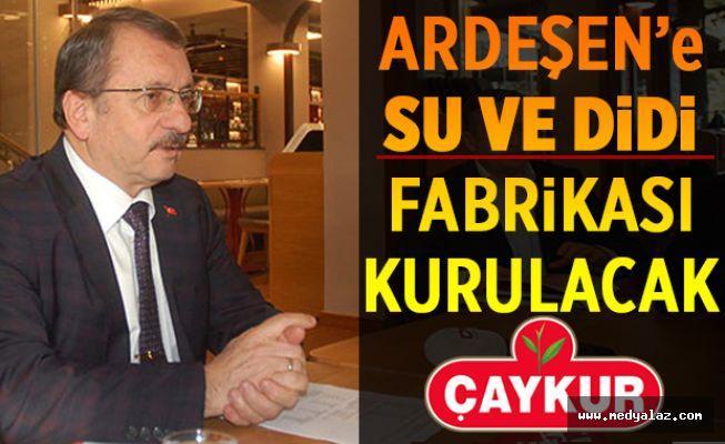 """Sütlüoğlu """"Ardeşen'e SU ve DİDİ fabrikası kuracağız"""""""