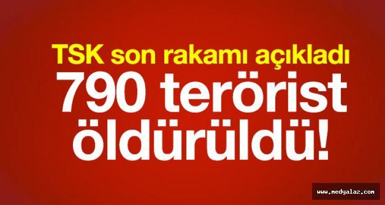 TSK son rakamı açıkladı: 790 terörist öldürüldü!
