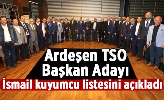 Ardeşen TSO Başkanı Adayı İsmail Kuyumcu, Listesini Açıkladı