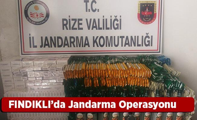 Fındıklı'da Jandarma Operasyonu