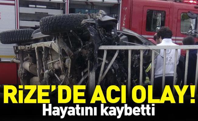 Bariyere Çarpan Kamyonetin Sürücüsü Öldü