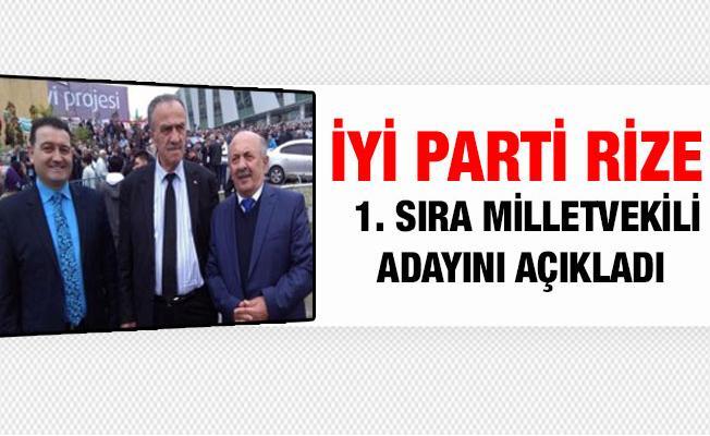 İyi Parti Rize 1. Sıra Milletvekili Adayını Açıkladı