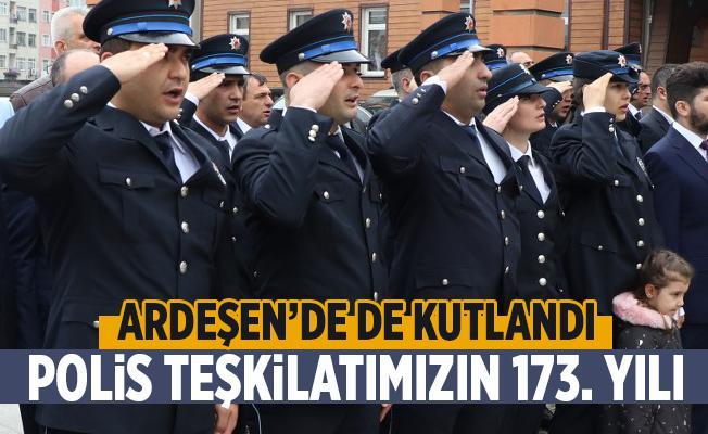 Polis Teşkilatımızın 173. Yılı Ardeşen'de Kutlandı