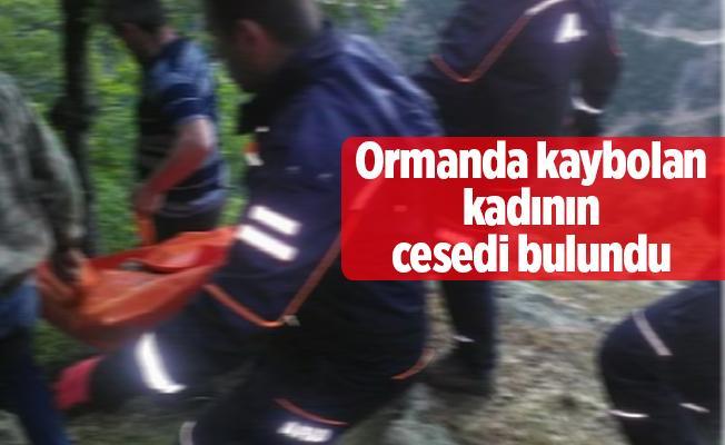 Ormanda kaybolan kadının cesedi bulundu
