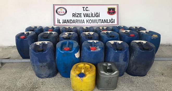 1200 Litre Kaçak Akaryakıt Ele Geçirldi