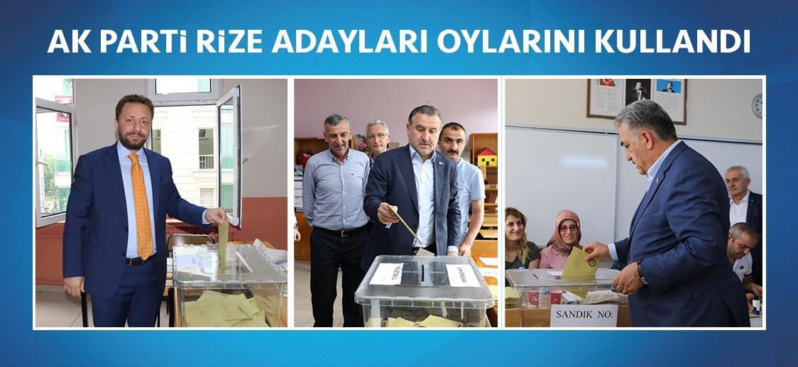 AK Parti Rize Adayları Oylarını Kullandı