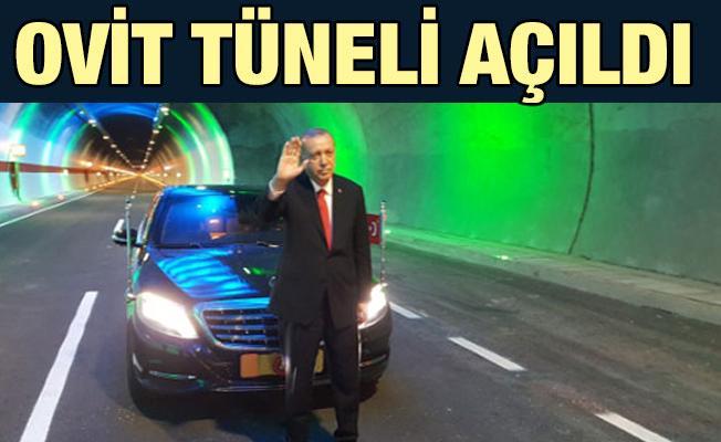 Cumhurbaşkanı Erdoğan, Ovit Tünelini Açtı