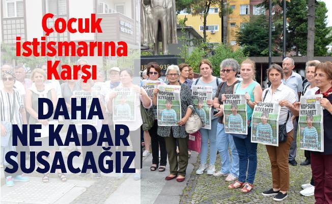 CHP Ardeşen Kadın Kollarından Çocuk istismarına Karşı Basın açıklaması