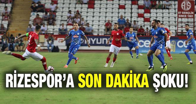 Rizespor'a Son Dakika Şoku!