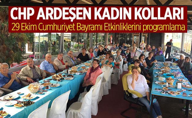 CHP Ardeşen Kadın Kolları Kahvaltı Programında Biraraya geldi