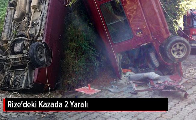 Rize'deki Kazada 2 Yaralı