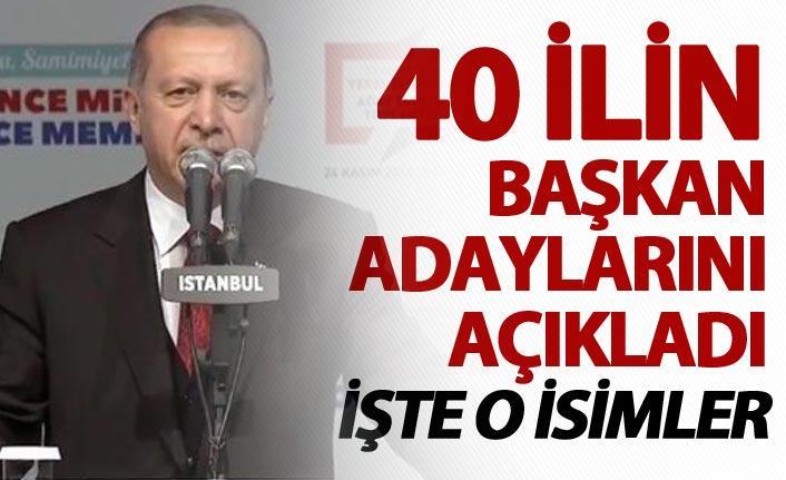 AK Parti'de 40 ilin adayları belli oldu