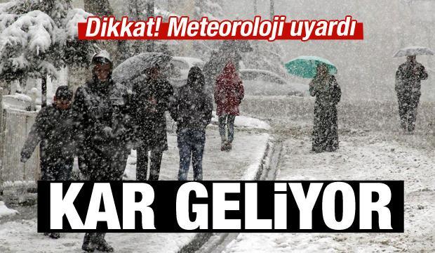 Meteoroloji'den 'kar' uyarısı geldi