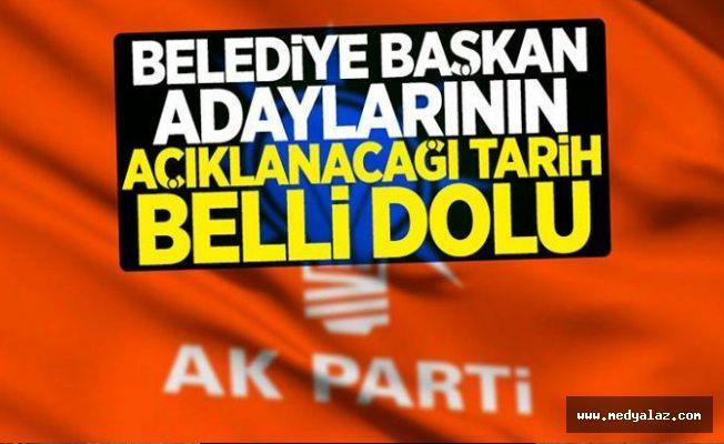 AK Parti'nin adayları o tarihte açıklanıyor...