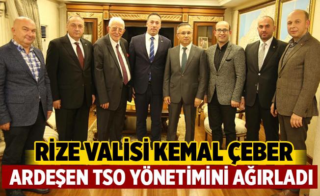 Ardeşen Ticaret Ve Sanayi Odasından Rize Valisi Kemal Çeber'e Ziyaret