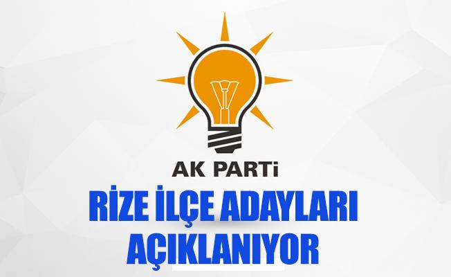 AK Parti Rize'de İlçe Belediye Başkan Adayları Açıklanıyor