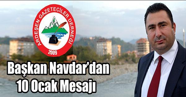 Ardeşen Gazeteciler Dernek Bakanı mesajı...