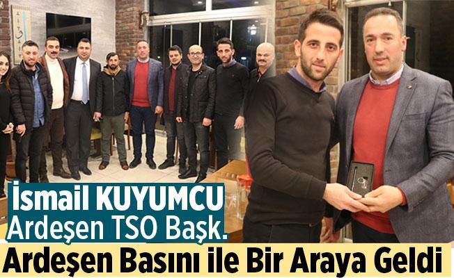 Ardeşen TSO Başkanı İsmail Kuyumcu, Gazetecileri Ağırladı