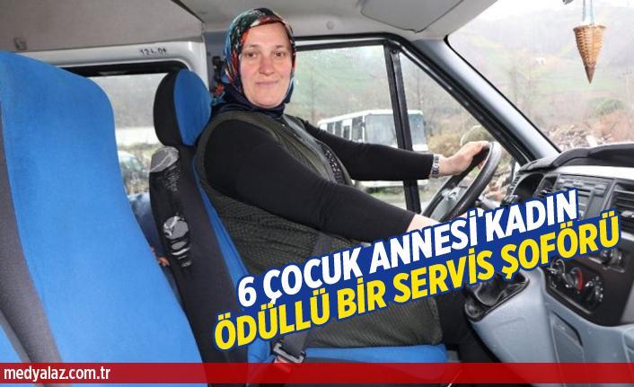 Ödüllü Bir Servis Şoförü 6 Çocuk Annesi Kadın