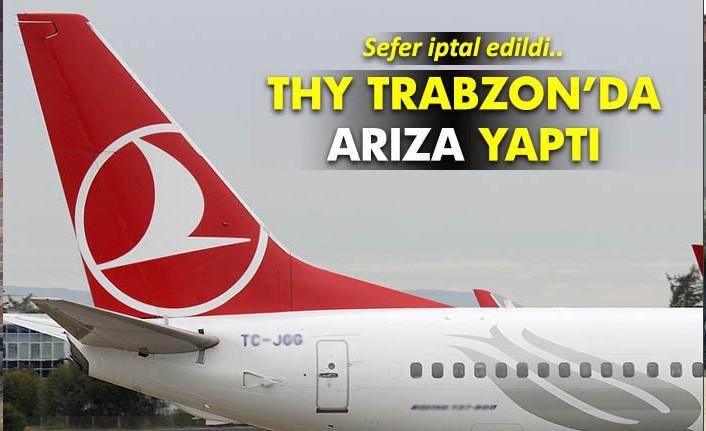 Uçak arıza yaptı! Trabzon – İstanbul uçuşu iptal!