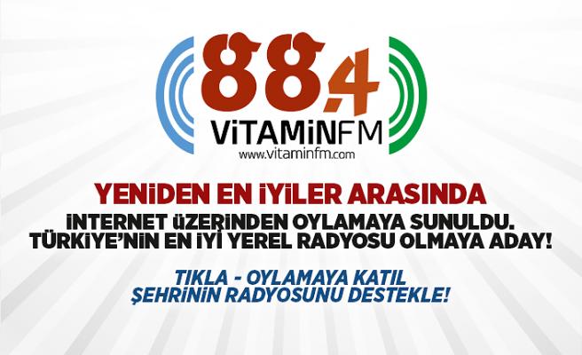 Vitamin FM, En İyi Yerel Radyo Yarışmasında Yeniden Aday Gösterildi.