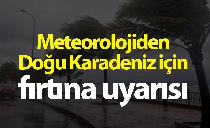 Meteorolojiden Doğu Karadeniz için fırtına uyarısı