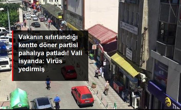 Artvin'de döner partisi nedeniyle korona vakaları yeniden arttı, Vali isyan etti: Aslında virüsü yedirmiş