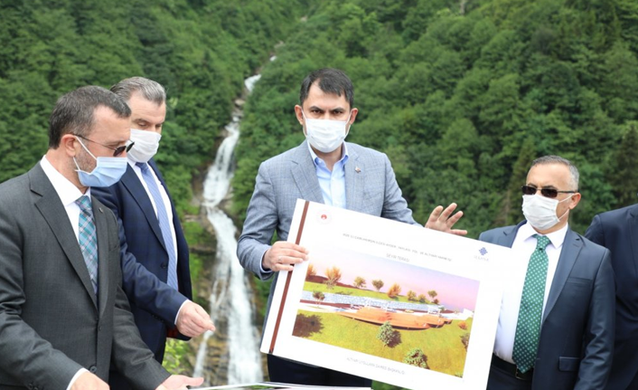 Bakan Murat Kurum, Ayder Yaylası'nda incelemelerde bulundu