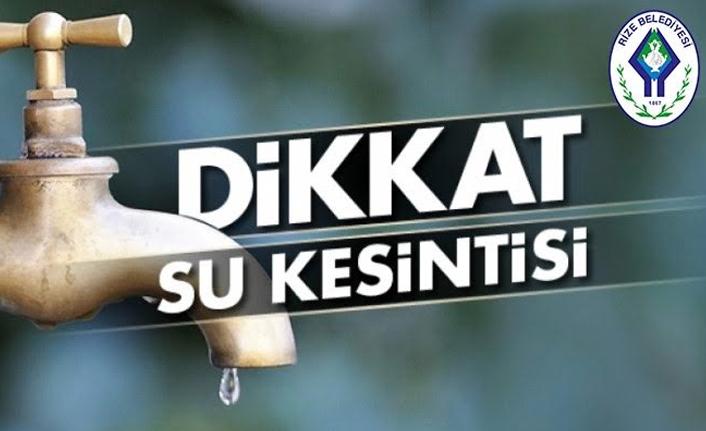 Rize'de 32 mahallede 24 saatlik su kesintisi yaşanacak