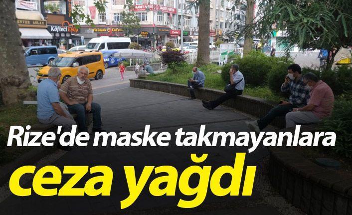 Rize'de maske takmayan 135 kişiye ceza