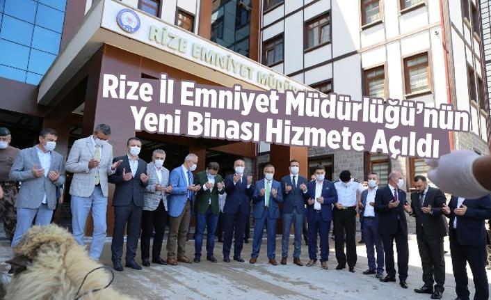Rize İl Emniyet Müdürlüğü'nün Yeni Binası Hizmete Açıldı