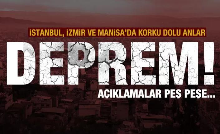 Son dakika: İstanbul'da da hissedilen deprem! Saruhanlı merkez üssü! AFAD'dan açıklama