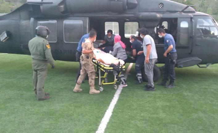 Kaçkar dağına tırmanırken düştü! Helikopterle kurtarıldı