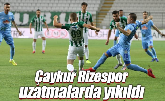 Konyaspor: 1 - Çaykur Rizespor: 0 Maç sonucu