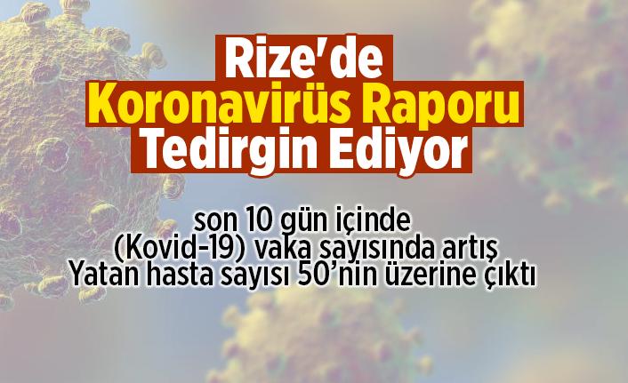 Rize'de 10 günde vaka sayısı artışı korkutmaya başladı