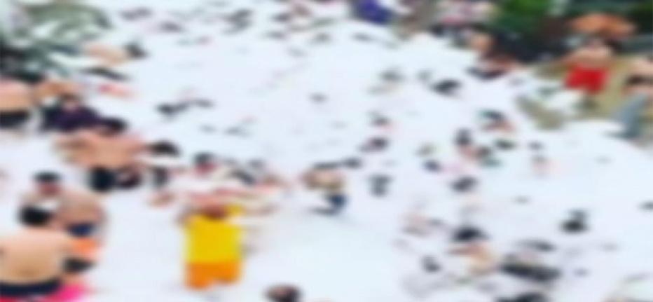 Rize'nin O ilçesinde yapılan köpüklü parti etkinliğine ceza